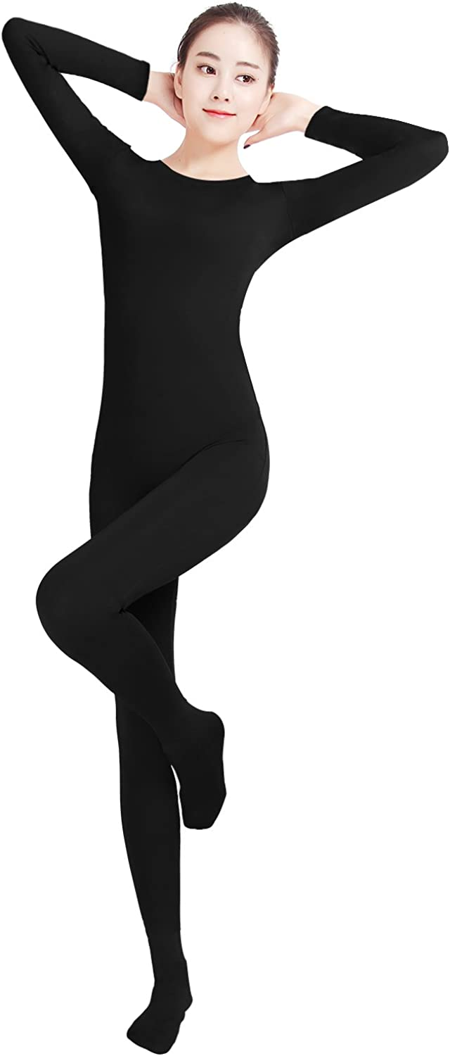 Cheap SALE Start Shinningstar Women's Well-fit Miami Mall Spandex One Rou Piece Footed Small