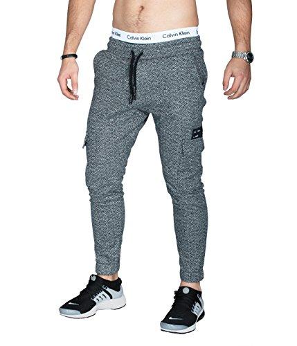 BetterStylz MasonFLNBZ Flanel Cargo joggingbroek voor heren, slim fit met zijzakken