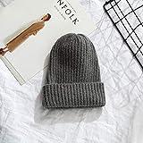Doudou señoras Puro Tejido cálido Suave Moda Sombrero Simple Coreano señoras Sombrero Casual Elegante y versátil Doudou-10-One Size