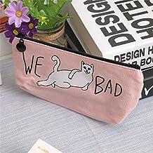 猫 ペンケース ねこ 筆箱 猫 文房具入れ ポーチ 小物入れ やんちゃな猫ちゃん (ピンク)