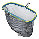 YEECHUN Swimming Pool Skimmer Net, Commercial Grade 18' Leaf Rake Cleaning Tool with Deep Double-Stitched Net Bag - Strong Aluminum Frame for Faster Cleaning & Easier Debris Pickup and Removal