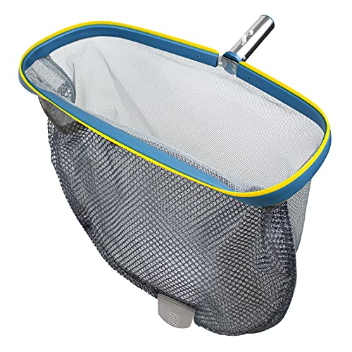 """YEECHUN Swimming Pool Skimmer Net, Commercial Grade 18"""" Leaf Rake Cleaning Tool with Deep Double-Stitched Net Bag - Strong Aluminum Frame for Faster Cleaning & Easier Debris Pickup and Removal"""
