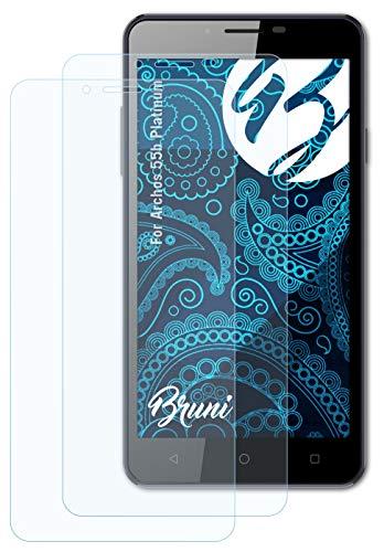 Bruni Schutzfolie kompatibel mit Archos 55b Platinum Folie, glasklare Bildschirmschutzfolie (2X)