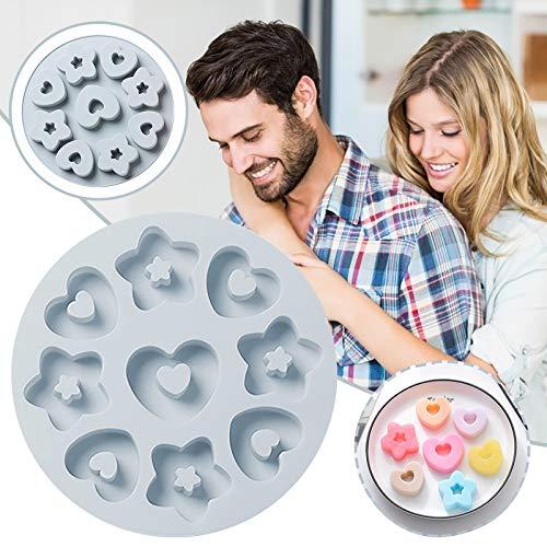 SODAL Moldes de silicona multiusos para tartas, diseño de corazón con forma de corazón y texto en inglés