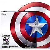 PRETAY Escudo De Capitán América De Metal De 24 Pulgadas con Soporte Gratuito, 75th Anniversary Edition Bar Shield Wall Decoraciones Colgantes Accesorios para Disfraces De Halloween