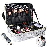 Relavel Makeup Train Case Cosmetic Organizer Make Up Artist Box Large Size with Adjustable Shoulder for Makeup...