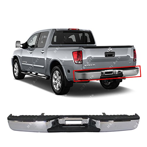 MBI AUTO - Chrome, Steel Rear Bumper Assembly for 2004-2015 Nissan Titan Pickup 04-14, NI1103109