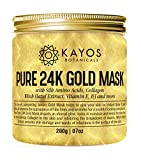Kayos 24k Gold Mask with Collagen, Silk Amino Acids, Vitamin E for anti-aging; wrinkles (200 G)
