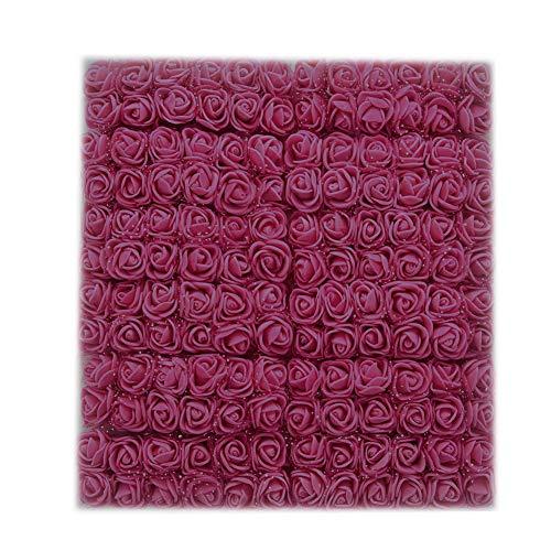 MENGZHEN 144 UNIDS Flores Artificiales Flores Falsas PE Rosa Espuma Mini Flor Bouquet Flor de la Boda Decoración del Hogar (#12)