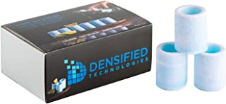 6 Pack Salt Shot Glass or Shooter Glass for Tequila. Light Blue Color. Made in Canada by Densified Technologies.