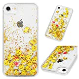 Beaulife Coque pour iPhone 7/ iPhone 8 Paillettes Bling Bling Shinny Flowing Liquid Quicksand Case 2...