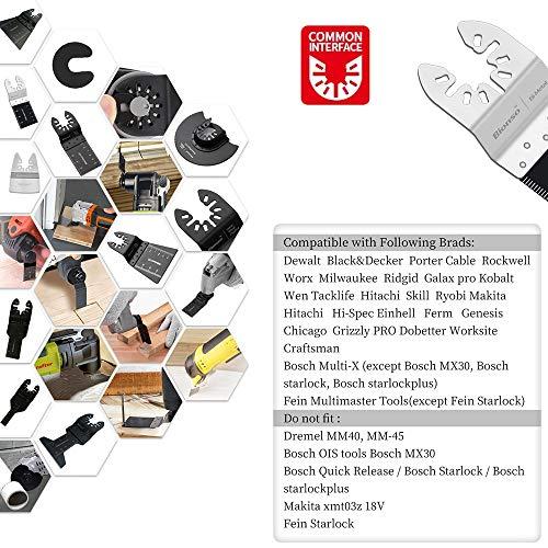 Bionso 31 PCS Oscillating Saw Blades, Premium Multitool Blades Kit for Wood Metal Plastics, Oscillating Tool Blades Fit Dewalt Worx Rockwell Wen Milwaukee Makita Ryobi Bosch Fein Porter Genesis Black