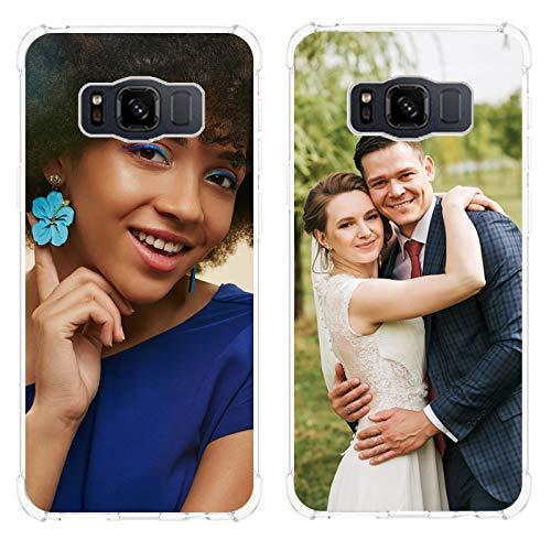 SHUMEI hülle für Samsung Galaxy S8 Active Personalisierte Fotoschlagabsorption Transparente TPU-Tasche DIY HD-Bild Gestalten Sie Ihr eigenes Foto Schutzhülle