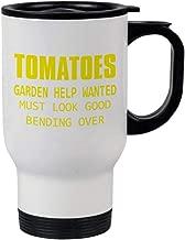 Style In Print Yellow Tomatoes Steel Travel Mug - White