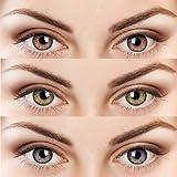 Soft Eye 3 Pair (Honey, Hazel & Brown) 0 Power Monthly Contact Lens