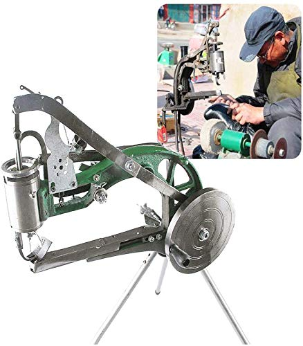 Máquina de cuero Zapatero, máquina de reparación de calzado de mano para trabajo pesado, máquina de reparación manual de calzado, zapatos, máquinas de coser de algodón doble de nylon