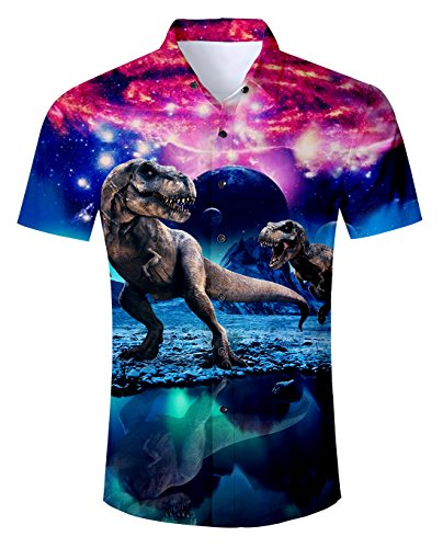 Uideazone Men's Cool Desert Crew Neck T-Shirt Novelty Graphic Tee Purple Large