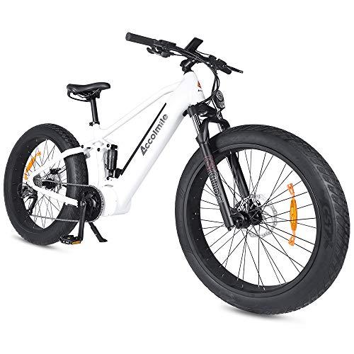 Accolmile Bicicletta Elettrica Mountain Bike Fat Tire 26 Pollici, motore centrale BAFANG 48V 750W, Batteria al litio 48V 14Ah 672Wh Samsung, velocità Shimano 9 con Display Intelligente
