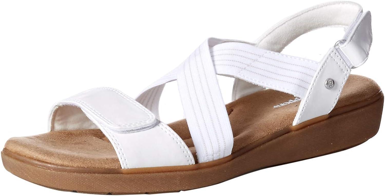 Grasshoppers Womens Leah 2-Strap Sandal Smooth Pu Sandal