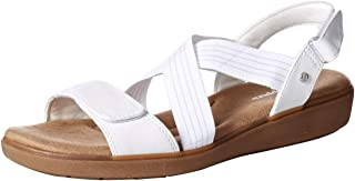 Grasshoppers Women's Leah 2-Strap Sandal Smooth Pu