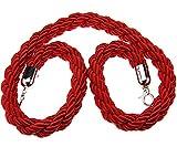Cuerda trenzada para barrea de control de acceso, en color rojo, azul y negro, de 1,5m, ...
