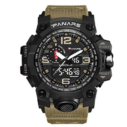 SW Watches PANARS Orologio Militare da Uomo Orologio da Polso al Quarzo per Lo Sport Top Luxury Impermeabile,Flesh
