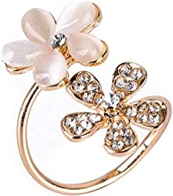 BIGBOBA Small Daisy Flower Opening Ring Christmas Valentine's Day for Adult(Golden)