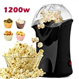 Professionelle Meykey Popcornmaschine für Zuhause zum selber machen, 1200W Heißluft Popcorn Maker,...