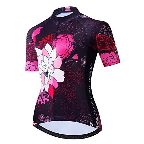 weimostar Maillots de ciclismo para mujer, camiseta de equipo, deportes de senderismo,...