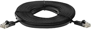 SF Cable 25ft Premium Ultra Flat CAT6 550 MHZ Network Patch Cable Black