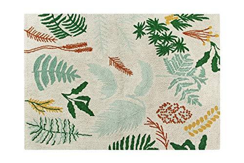 Lorena Canals Botanic Plants waschbarer Teppich, Baumwolle, Mehrfarbig, 140 x 200 x...