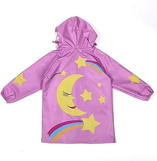 LHY- Raincoat S/M/L Children's raincoat boy Breathable Girl raincoat Student Poncho Convenient (Color : Pink, Size : L)