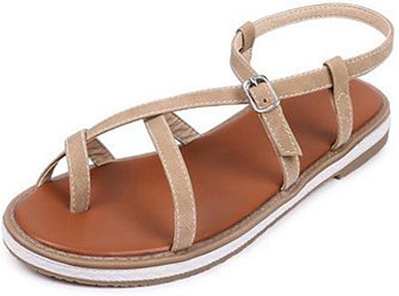 GIY Women's Strappy Flat Flip Flops Sandals Buckle Slingback Comfort Platform Gladiator Summer Beach Thong