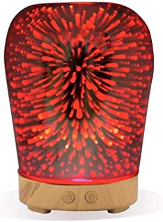 3D Essential Oil Diffuser,100ml Aromatherapy Ultrasonic Cool Mist Humidifier with 3D Design Glass Star Effect Pattern Essential Oil Function Aroma Decorative Lamp Auto Shut-Off for Office Yoga …