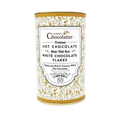 Martins Chocolatier Heiße-Schokolade Weiße Schokolade - hergestellt aus echten weißen Schokoladen Flakes - Hochwertige Schokolade |Schokoladen Geschenke|