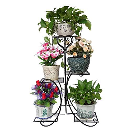 LIU UK Flower Stand Soporte de Flor de Hierro de Estilo Europeo de múltiples Capas, Multi-Funcional...