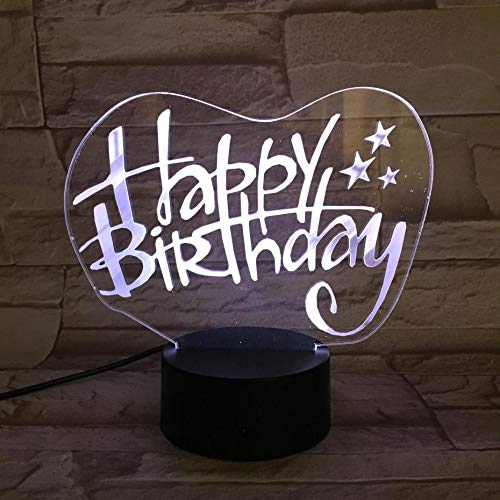 3D Holiday Wishes Sign Pattern Night Light,Sleep Light,Illusion Lamp,7 Color Change Decorative Lights, Kids Toys Birthday Gift Touch with Remote Control for Baby Adults Bedroom
