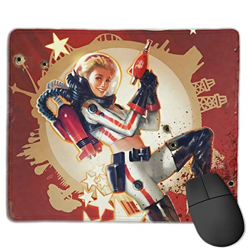 Fallout Printed Non-Slip Gaming Office Mouse pad Rectangle Rubber Anime Mouse Pad Gaming Mouse Pad 10x12 Inch
