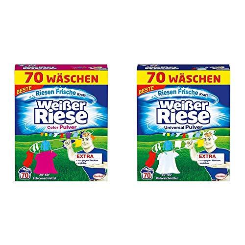 Weißer Riese Color Pulver, 1er Pack (1x70 WL) + Universal Pulver, 1er Pack (1x70 WL)