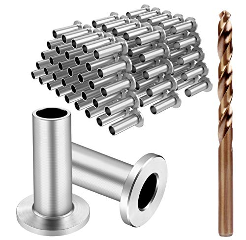 BLIKA 120 Pack Stainless Steel Protector Sleeves for 1/8