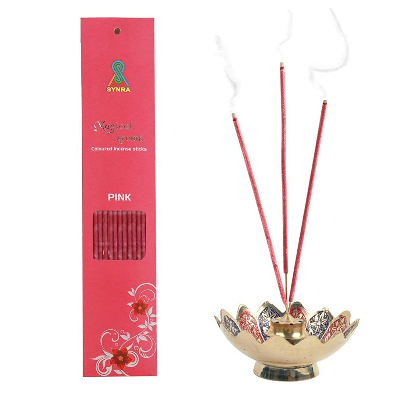 もの土砂降りシステムMagical Aroma Coloured Incense Stick - Pink