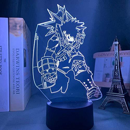 A-Generic Luz de Noche 3D para niños con lámpara de decoración cambiante de 16 Colores con Control Remoto Regalos de cumpleaños para niñas y niños
