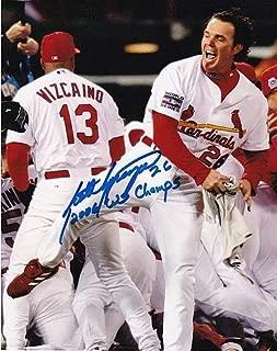 Scott Spiezio St Louis Cardinals 2006 Ws Champs Action Autographed Signed 8x10 - Certified Signature