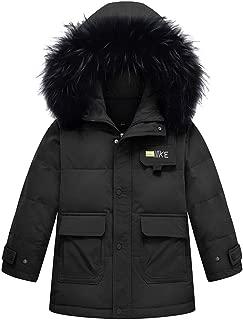 HebeTop Gril Boys' Hooded Down Coats Winter Warm Jacket Solid Puffer Coat (4Y-12Y)
