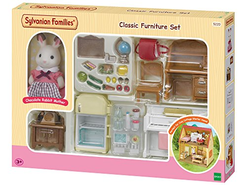 SYLVANIAN FAMILIES- Classic Furniture for Cosy Cottage Starter Home Set Mini muñecas y Accesorios, Multicolor (Epoch para Imaginar 5220)