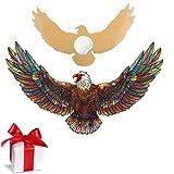 SAKHRI PARIS® - Rompecabezas de madera de animales coloridos - Ali el águila de Belleville - Juego de lluvia de ideas   Puzzle para adultos y niños - 150 piezas - Adhesivo de pared GRATIS