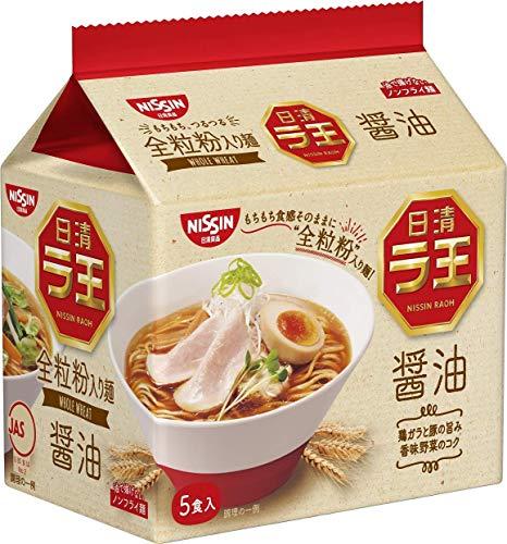 Nissin - Raoh, japanische Instantnudeln, angebrannte Misosuppe, 4,3 Unzen x 6 Schalen
