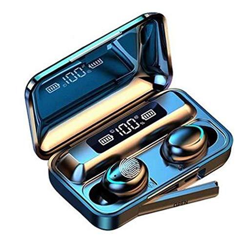 XJPB Auriculares Bluetooth Auriculares inalámbricos con Estuche de Carga LED Pantalla de batería LED Auriculares Auriculares Auriculares Mic para el Deporte