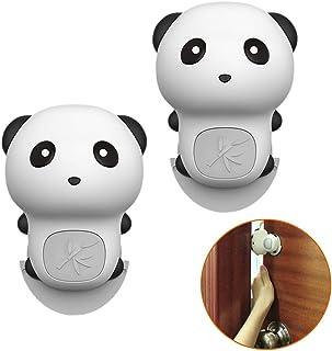 ギノヤ ピンチガード, 2個入り シリコンドアストッパークッション パンダ様式 指を挟む防止