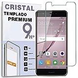 REY Protector de Pantalla para Huawei Nova Plus/Huawei G9 Plus, Cristal Vidrio Templado Premium